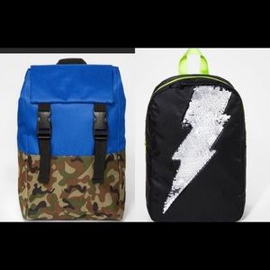 2 NWT boys backpacks for ages 3-9